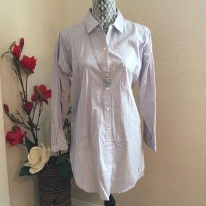 Blue /white striped tunic shirt